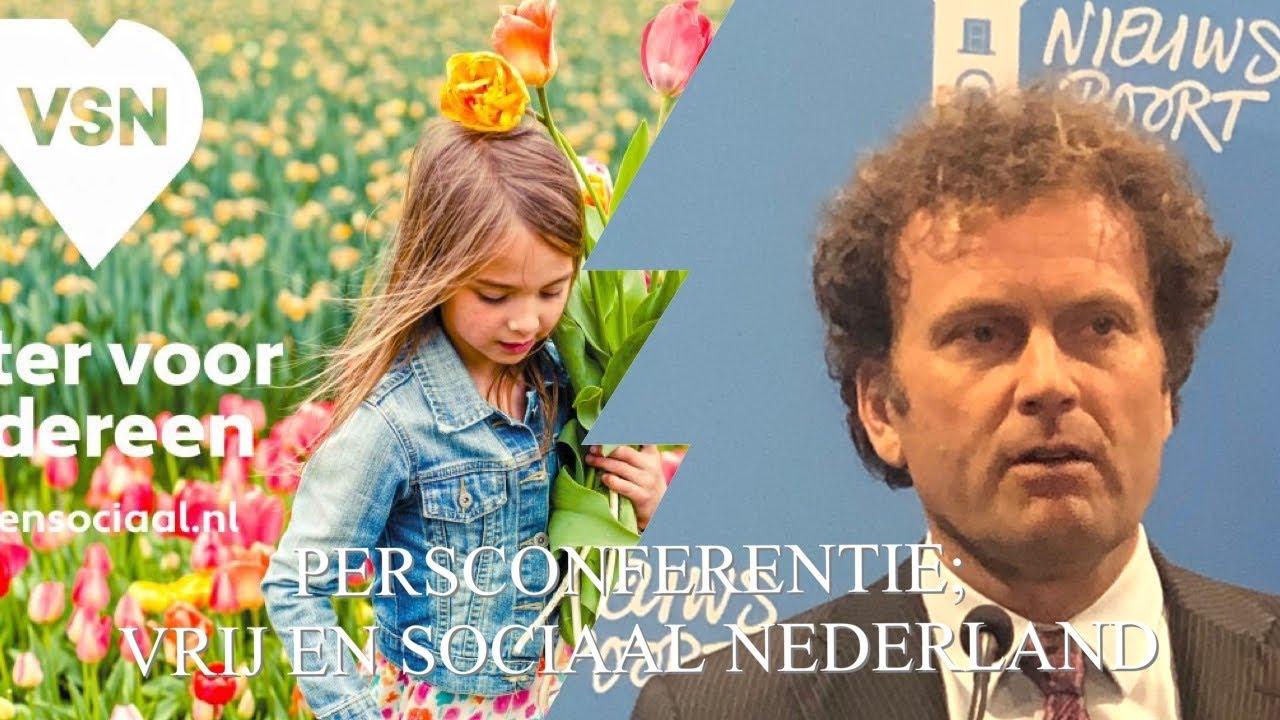 VSN; introductie van de nieuwe partij Vrij en Sociaal Nederland.