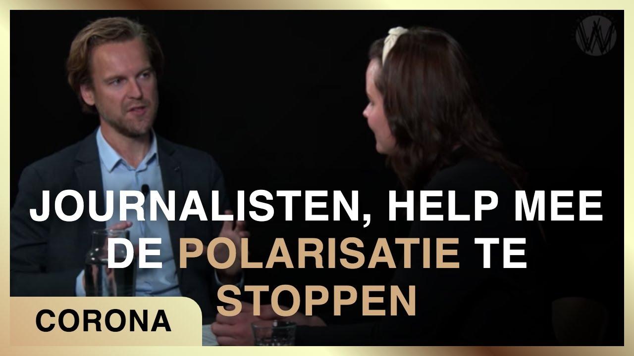 In hongerstaking wegens grove schending journalistieke code. Fiona Zwart met Ferdinand van der Neut.